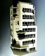 N Scale 1/144 White Battle Corner Ruined Building GUNDAM 7.9*7.2*16.9cm NN073