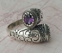 Authentic Turkish Solid 925 Sterling Silver Womens Ring  Amethyst Gemstone