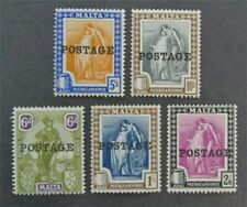 nystamps British Malta Stamp # 124//129 Mint OG H $49