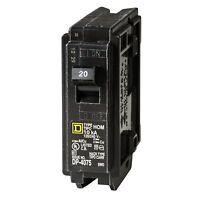 NEW Square D 20 Amp Circuit Breaker Single-Pole Circuit Breaker 20/240 VAC
