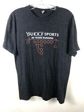 YAHOO Sports Corporate T-Shirt 20 Years Running Football - Unisex Medium