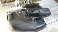 Swedish Black leather army boots size 41 [ US size 8 ] New unused