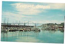 Commercial Fishing Fleet Boats Yaquina Bay Bridge NEWPORT OREGON Postcard OR