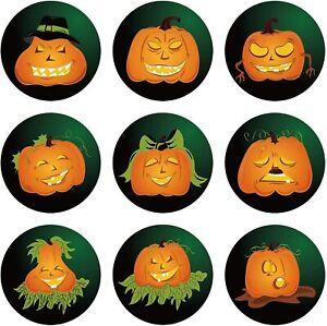 Jack-O-Lantern Halloween Pumpkin Orange Stickers Seals Label Party Gift  Spooky