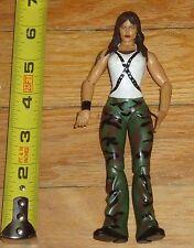 2001 WWF WWE Jakks Lita Amy Dumas Diva Wrestling Figure Green camo pants