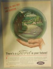 Ford Car Ad: There's A New Post War Ford In Your Future 1945 Size:11 x 15 inches