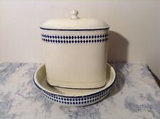 Vintage French Enamel Lavabo, Wall Water Tank Wash Basin Sink Fountain