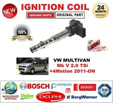 Per VW MULTIVAN Mk V 2.0 TSI +4 Motion 2011-ON singola bobina di accensione 4PIN D-Forma