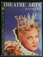 💎THEATRE ARTS MAGAZINE JAN 1956 SPECIAL OPERA ISSUE LIBRETTO OF MOZART💎