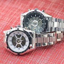 New Men's Hand-Winding Skeleton Automatic Mechanical Sport Wrist Watch Rakish