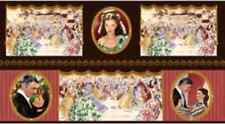 Gone With the Wind Rhett & Scarlett OVAL PORTRAITS PANEL Tara OOP Fabric
