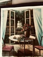 "original oil painting, signed,, Botanical, 27""x 23 multi color, breakfast room,"
