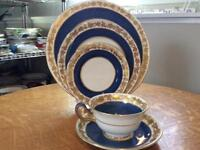 Wedgwood Cobalt Whitehall bone china FIVE piece place setting W3993
