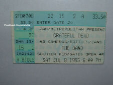GRATEFUL DEAD Concert Ticket Stub 7-8-95 SOLDIER FIELD Chicago RARE The Band