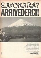 1965 Original Advertising' Vintage Alitalia Airlines Company Aerial Sayonara