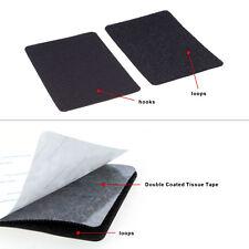 Black - Home & Office DIY Simple Adhesive Hook & Loop Stick Fastening Tape Patch