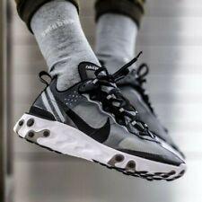 New Men's Nike React Element 87 Running Shoe Size 12 Black/White AQ1090-001