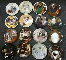 Lot 16 Norman Rockwell Collector Plates Christmas & More 1970s 1980s Rare