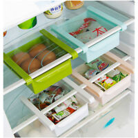 Organizer Storage Box Shelf Holder RackSlide Kitchen Fridge Freezer Space Saver