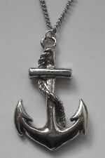 Chain Necklace #1540 Pewter SHIP'S ANCHOR (36mm x 23mm) NAUTICAL