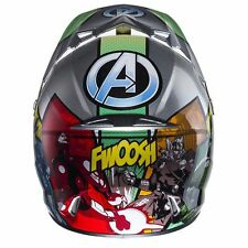 * Nuevo * 2017 Hjc Moto Quad Scooter Marvel Los Vengadores Crash Casco S 55-56 Cm
