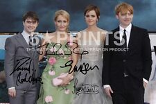 "HARRY POTTER POSTER PHOTO 12x8"" CAST SIGNED PP JK ROWLING RADCLIFFE WATSON GRINT"