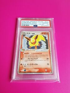 Pokemon Japanese Flareon EX Holon Reserch Tower Fire 1st Edition GEM MINT PSA 10