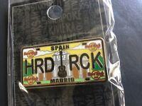 HARD ROCK CAFE MADRID LICENSE PLATE PIN