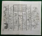 Antique road map c1719 J Senex London Hounslow Maidenhead Reading Marlborough