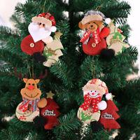 Christmas Tree Hanging Decor Santa Claus Snowman Elk Toy Doll Bauble Kids G ij