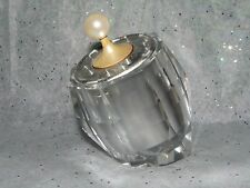 VINTAGE HAND CUT CRYSTAL TABLE LIGHTER ELECTRONIC FOR CIGARETTES or CIGARS