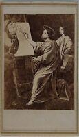 Foto Di Dopo Peinture Da Raphael Francia Foto CDV PL45L2n12 Vintage Albumina
