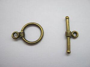 Bronze Toggle Clasps Round Jewellery Making Bracelet Toggle Fastenings