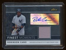ROBINSON CANO 2011 FINEST MOMENT AUTO JERSEY SP /274  RARE YANKEES SEATTLE STAR
