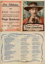 Programa PUBLICITARIO de CINE: Diego Banderas. Jorge Negrete.