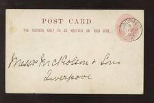 GB QV STATIONERY 1882 1/2d PC HARNETT HORRY SHIPBROKERS