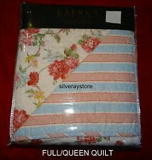 Ralph Lauren RED ROSES 3-pc Full Queen Quilt + Standard Shams