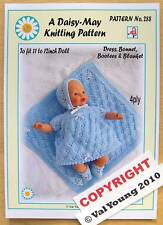 "DOLLS KNITTING PATTERN  BY DAISY-MAY 11""/12""  No 288"