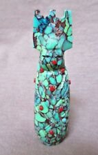 Native ZuniTurquoise Tableta Maiden Pendant by Michael LaWeka  - JP0184