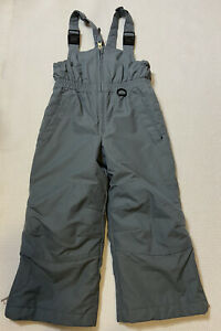 Lands' End Overall 4 Gray Waterproof Snow Ski Pants Unisex