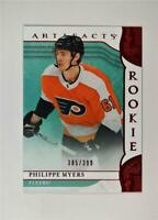 2019-20 UD Artifacts Ruby Rookies #163 Philippe Myers /399