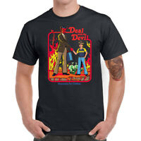 Deal With The Devil Men T-shirt Funny Graphic Tees Shirt Cotton Short Sleeve Top