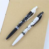 Cute 2 Pcs Cartoon Cat Black White 0.5mm Office & School Plastic Ballpoint Pens