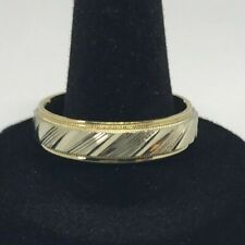 10k mens two tone wedding band weighs 8 grams