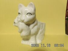 Cat Lovers-Adorable Momma Carrying Kitty in Her Mouth Ceramic Planter