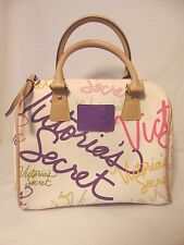 Victoria Secret Purse NEW Signture Bowler Doctor Bag Zipper Satchel Logo Handbag