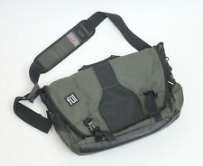 FUL Laptop Messenger Bag Black & Green Used Commuter School Pack Crossbody