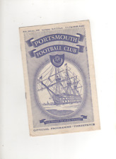1958-59 Portsmouth V Accrington Stanley 28th GENNAIO 1959 FA Cup 4 REPLAY