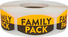 Family Pack Grocery Market Stickers, 0.75 x 1.375 Inches, 500 Labels on a Roll