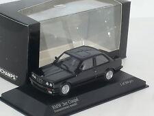 New 1:43 Minichamps 1989 BMW 3 Series 2 door E30 black 316i 318i 320i 325i 323i